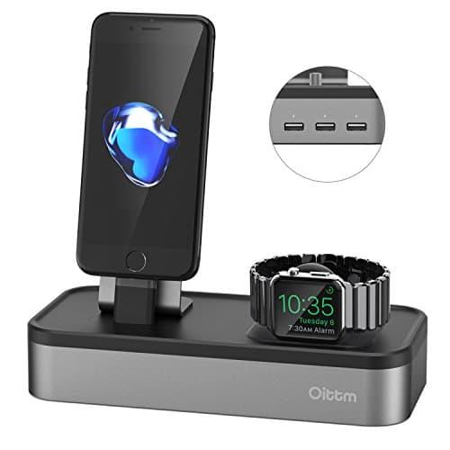 Oittm 5-USB Ports Ladestation Charge Halterung für Apple Watch