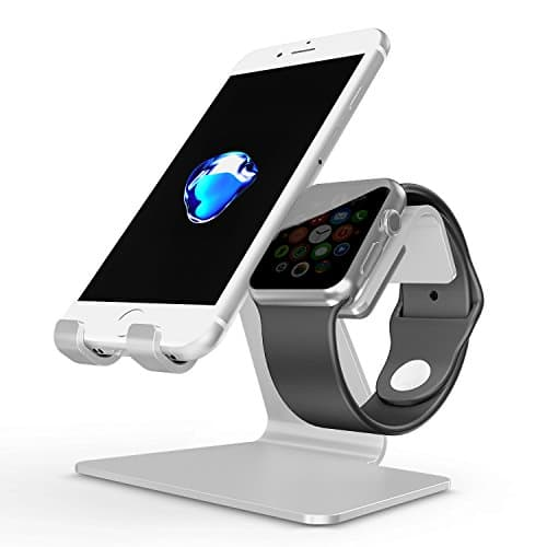 OMOTON 2 in 1 Ladestation für Apple Watch und alle Smartphones