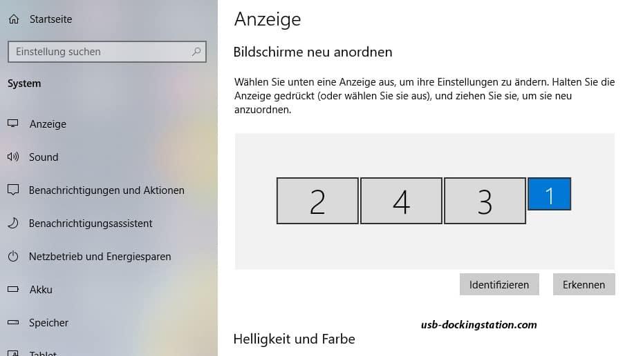 3 Bildschirme Windows 10
