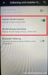 Mobiler Wlan Hotspot Android aktiv