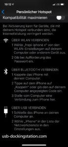 Thethering Möglichkeiten iPhone