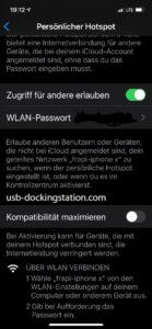 Zugriff für andere erlauben iPhone